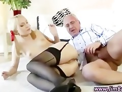 old lad fucks golden-haired in her gazoo