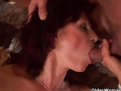 squirting grandma needs to acquire off on his wang