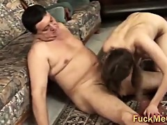old cock fucks young twat