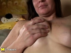 nasty mother next door playing with herself