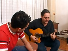 daddy messes with a latin twink - latin-hot