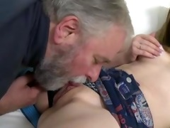 youthful czech cutie fucking with aged bulky man