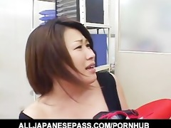 japanese dream cougar in a cowgirl suit toys her